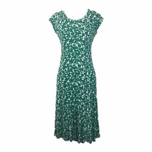 Boden Dress Viscose Green Apple Dress